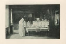 ANTIQUE HOSPITAL SISTERS PRAYING PRAY NUNS OF THE ASYLUM AT BEAUNE RARE PRINT