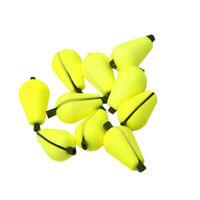 6 Stücke Angeln Posen Bobber Gelb Leuchtende Schwimmt Wassertrofen Form