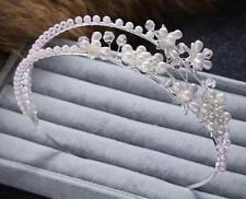 Pearls Headband Floral Beaded Wedding Hairband Crystal Bridal Dress Accessories