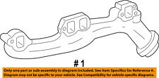Jeep CHRYSLER OEM 09-10 Grand Cherokee 5.7L-V8-Exhaust Manifold 53013858AD