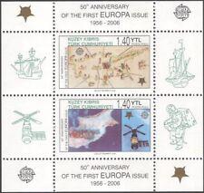 Turc de Chypre 2006 EUROPA timbres 50th/Espace/SATELLITE/cartes 2 V M/S (b340b)
