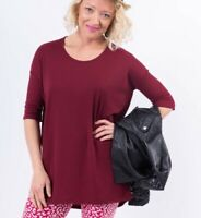 Agnes and Dora High Low Ribbed Red Tunic Womens Size Med NWT