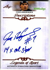 "2012 LEAF INSCRIPTIONS AUTO:IVAN RODRIGUEZ""14x ALL-STAR""AUTOGRAPH RANGERS/TIGERS"