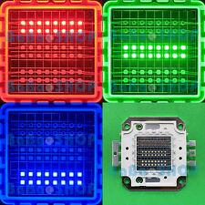 50W RGB Red Green Blue Full Color Colorful High Power LED Lamp Light 50Watt COB