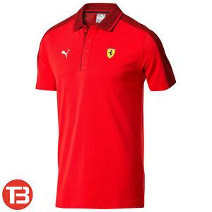 PUMA Scuderia Ferrari Herren F1 Fan Crew Poloshirt mit Stehkragen [595422-01]