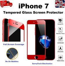 Full Edge-to-Edge 3D Cover Tempered Glass Screen Protector for iPhone 7 RED