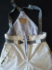 Tenson Mens snow ski pants overalls bibs Size 54 Khaki & blue