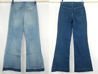 NEW Mossimo Jeans High Rise Wide Leg Flare Super Stretch Dark or Light Blue Wash
