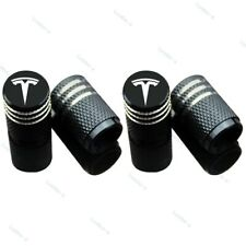 4pcs Car Tire Valve Stem Caps Air Cover Wheel Parts Styling Logo For Tesla