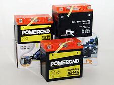 Batterie Gel Poweroad YTX14-BS 14AH Suzuki VS 1400 Intruder VX51L 1987-2003