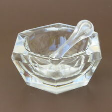 EARLY 20C ART DECO ANTIQUE FRENCH BACCARAT CRYSTAL MORTAR & PESTLE ASHTRAY BOWL