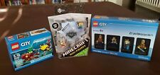 Lego & Minecraft Lot! Fishing Steve Pig Zombie Wither & Bricktober Minifigures!