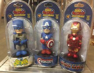 Body Knockers Solar Powered Comic Book Figures:Batman, Iron Man, Captain America