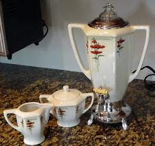 Fraunfelter Royal Rochester ART DECO COFFEE URN +BONUS! - cream sugar pot maker