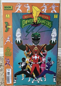 Mighty Morphin Power Rangers No. 1 Launch Party Kit Kyle Higgens Signed Numbered