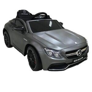 Mercedes-AMG C63 S Sports Car, 12V Electric Ride On Toy - Matt Grey- Pre Order E