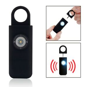 Personal Safety Loud Alarm Keychain, Bright LED Light, Self Defense Siren