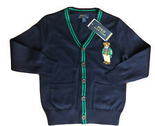 NWT POLO RALPH LAUREN POLO BEAR CARDIGAN  SWEATER SZ 5