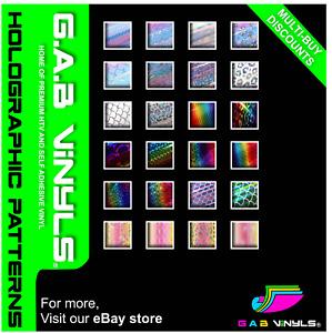 Holographic Pattern Self Adhesive Vinyl - Opal, Transparent, Rainbow - A4 Sheet
