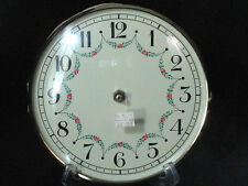 Vintage Clock Face Mantle Grandfather Wall Repair West Germany Glass Bevel