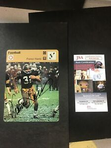 1977-79 Sportscaster 6524 Pittsburgh Steelers Franco Harris SIGNED JSA CERTIFIED