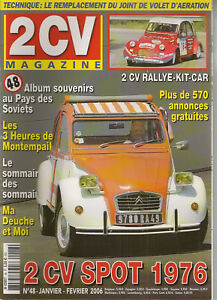 2CV MAGAZINE 48 CITROEN 2CV SPOT 1976 2CV RALLYE KIT CAR 2CV AU PAYS DES SOVIETS