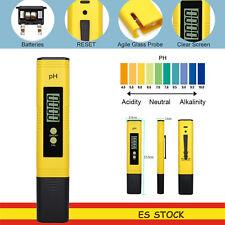 Medidor de pH  digital LCD probador bolsillo hidroponía acuario prueba de agua