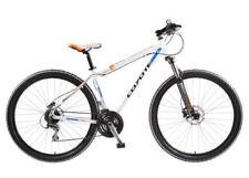 Bicicleta de montaña blanca de aluminio