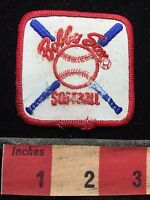 Bobby Sox Softball Patch ROUGH SHAPE! C74G