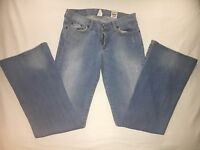 "LUCKY BRAND Women 4 / 27 SWEET 'N LOW Boot Cut Jeans Factory Distressed 9"" Rise"