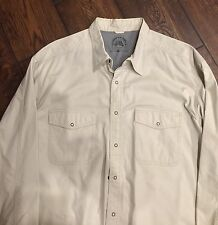 Rare Indian Terrain Rodeo Classics travel Utility Shirt Ivory/bone Sz XL 44