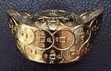 Feng Shui Prosperity & Luck Gold Ingot / Yuan Bao /Chinese ancient money