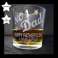 Personalised Whisky Tumbler Glass, Fathers Day Present / Gift