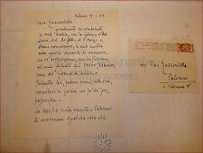 VITTORIO GUSSONI Lettera Autografa a PINO GUZZARDELLA 1952 Pittura Ximenes Arte