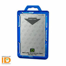Identity Stronghold DuoLite - RFID Blocking Two Sided ID Badge Holder - Blue