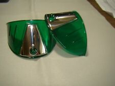 vintage style green transparent 7 inch head light visors headlight visor eye lid