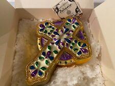 Polonaise Christmas Ornament- Vatican Jewel Cross- Nib