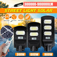 900W 90000LM LED Solar Street Light PIR Motion Sensor Outdoor Wall Lamp+Remote