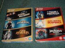 6 DVDs Team America World Police/Beavis Butthead/Jackass/Tomb Raider/Sky Captain