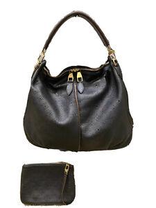 Louis Vuitton Selene Mahina GM black leather shoulder bag