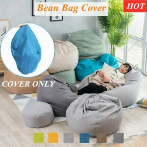 Bean Bag Cover Chair Sofa Couch Indoor Outdoor Lazy Lounger Large For Kids Adult