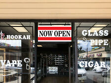 Now Open Banner Sign 2 feet x 5 Big Red & White Open! Store & Restaurant