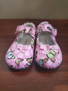 Baby Girl Pediped Butterfly Pink Shoes 6 - 12 months size US 4 - 4.5 / EU 19