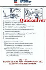 1970 Road Runner Superbird FRONT Jacking Instructions Trunk Lid Decal NEW MoPar