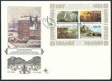 Südafrika - FDC (A5) Nationalgalerie Kapstadt 1980 Mi. 575-578 Block 10 (S6)
