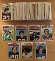 1977, 1978, & 1979 Topps (376) Football Cards With Stars & Rookies