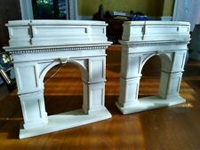 """Book Ends, Antique White Marble, 10.25"""" High, almost perfect condition"""