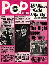 Pop Weekly Magazine 26 June 1965    The Who   Unit Four Plus Two   Cliff Richard