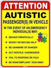 Autistic Passenger In Vehicle Car Window Vinyl Sticker Decal