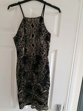 River Island black and gold lace dress, spring summer Size 10, new